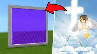 Minecraft Pe How To Make a Portal To The Heaven Dimension - Mcpe Portal To Heaven!!!