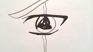 How to draw Sasuke Uchiha Sharingan.サスケのサスケを描画する方法.