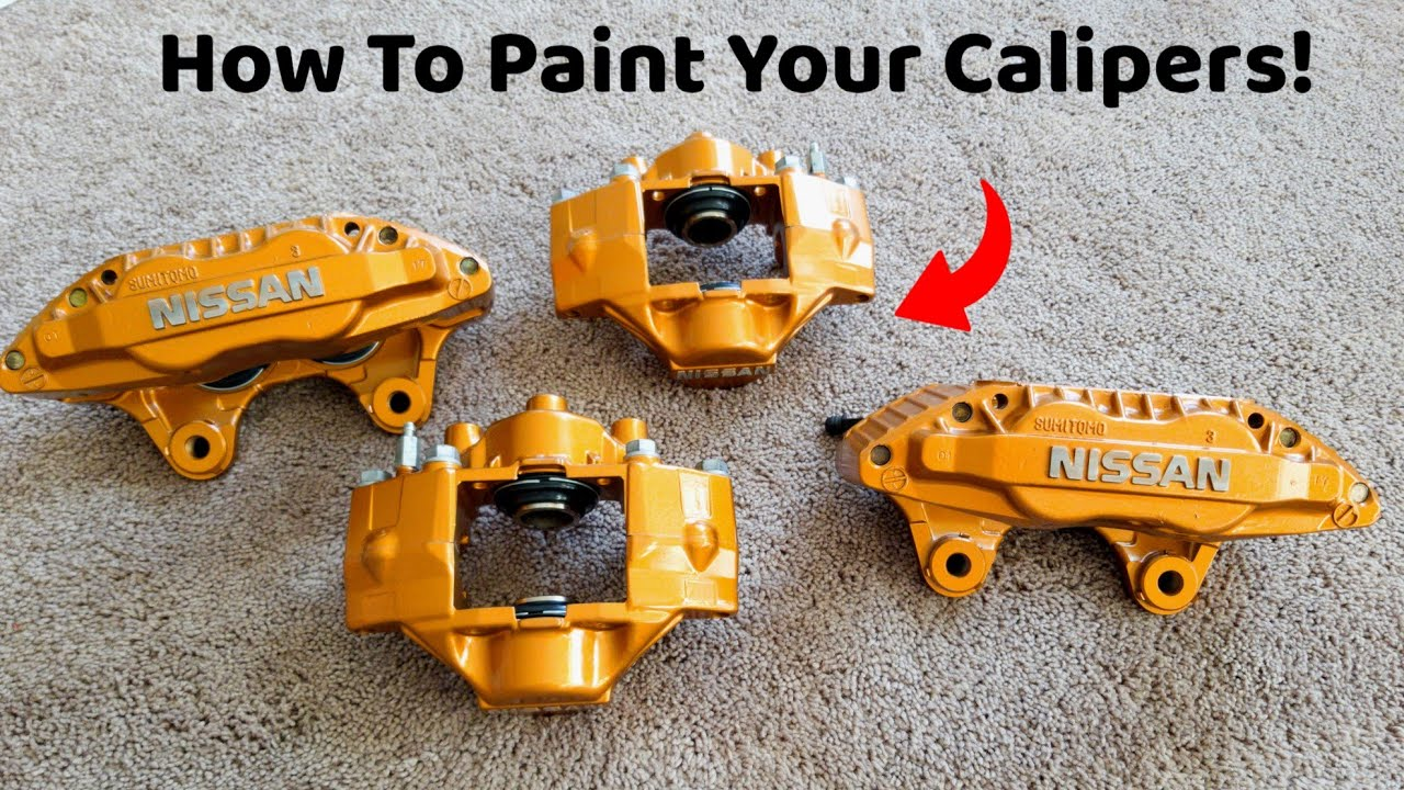How To Paint Your Brake Calipers Using Vht Copper Nissan 300zx Calipers Get Paint Youtube