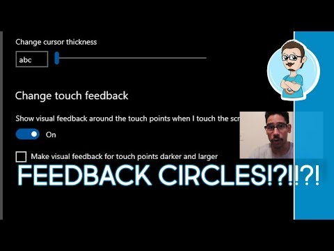 Windows Tips And Tricks 2019 | Disable Touch Screen Feedback Circles In Windows 10!
