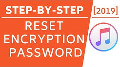 How to Reset Encryption Password on iTunes [2019]