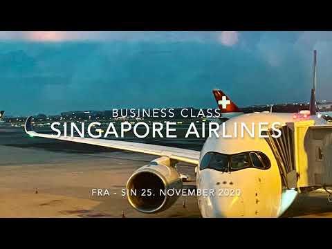 Singapore Airlines Business Class Frankfurt - Singapur am 25. November 2020