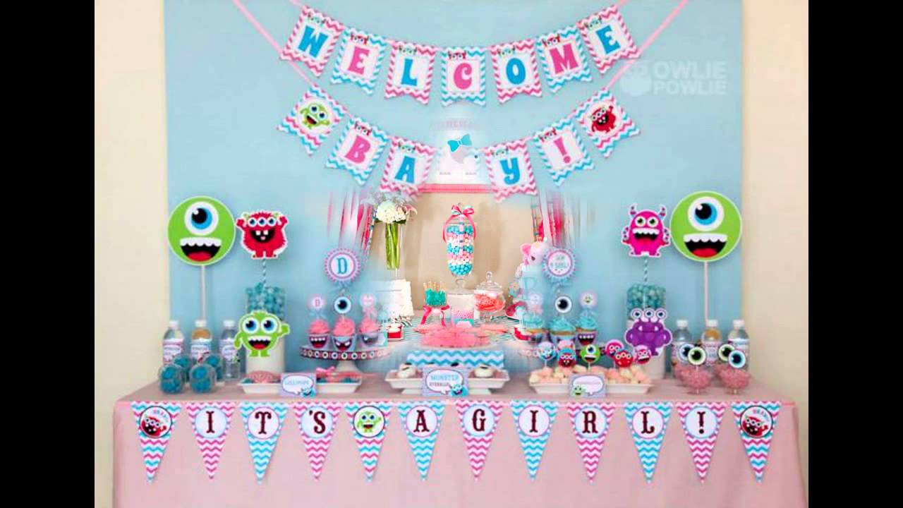 girly baby shower themes youtube. Black Bedroom Furniture Sets. Home Design Ideas
