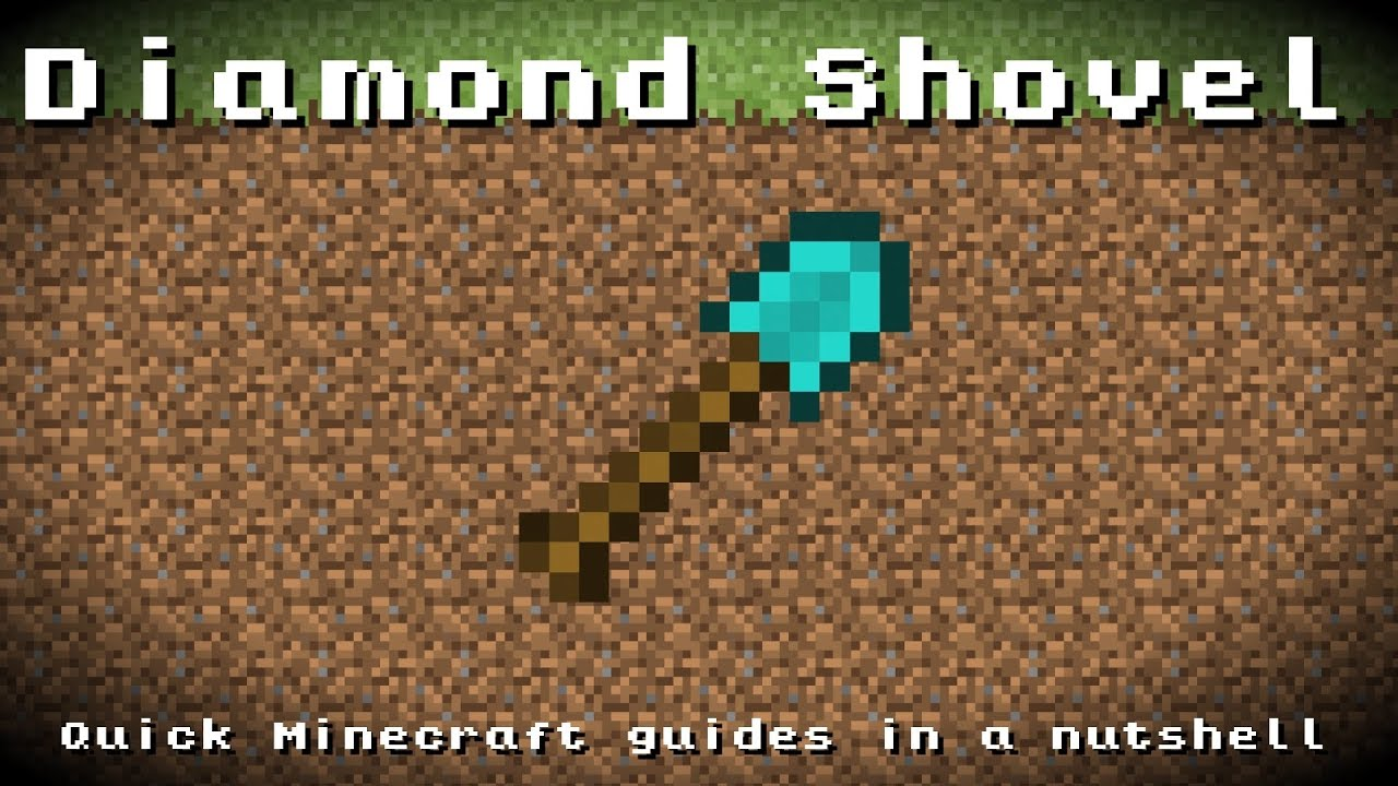 how to make a diamond shovel in minecraft
