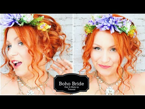 Bohemian Bride Make Up & Hair Tutorial
