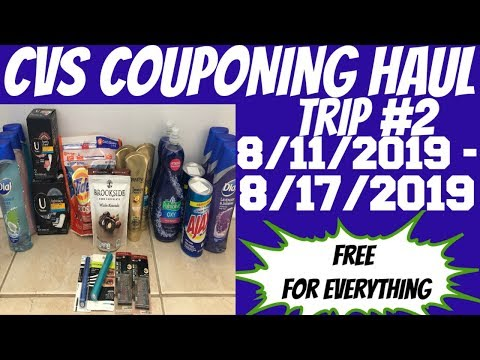 CVS COUPONING HAUL 8/11/2019 - 8/17/2019 | TRIP #2 | FREE FOR EVERTHING