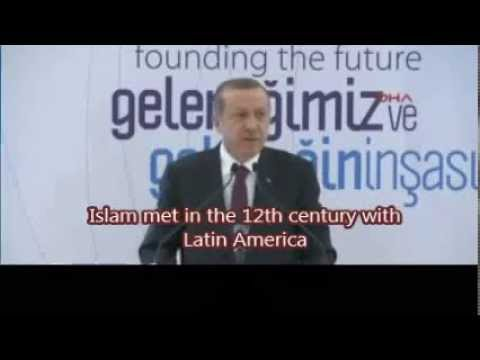 Turkish P.M. Erdoğan says America was discovered by Muslims,  not Columbus