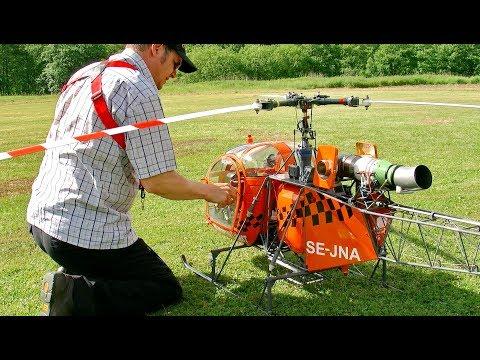 HUGE XXL RC TURBINE MODEL HELICOPTER LAMA SA 315 B FLIGHT DEMONSTRATION