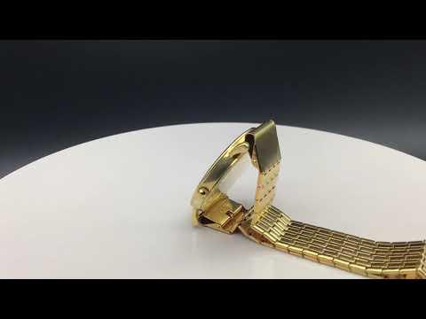 Longines часы золотые 18К  №5 Лонжин L4.777.6.11.0  с позолоченным браслетом