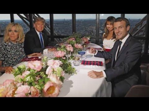 Donald Trump in Paris: Missglücktes Kompliment für Madame Macron erregt Franzosen