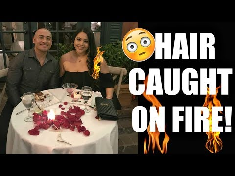 MY HAIR CAUGHT ON FIRE!