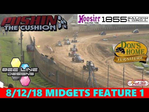 Angell Park Speedway - 8/12/18 - Badger Midgets - Feature 1