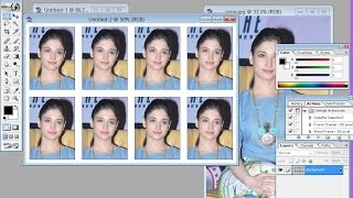 how to create passport size photo in photoshop 7.0 cs6 cs5 |make 8 passport size photos in photoshop