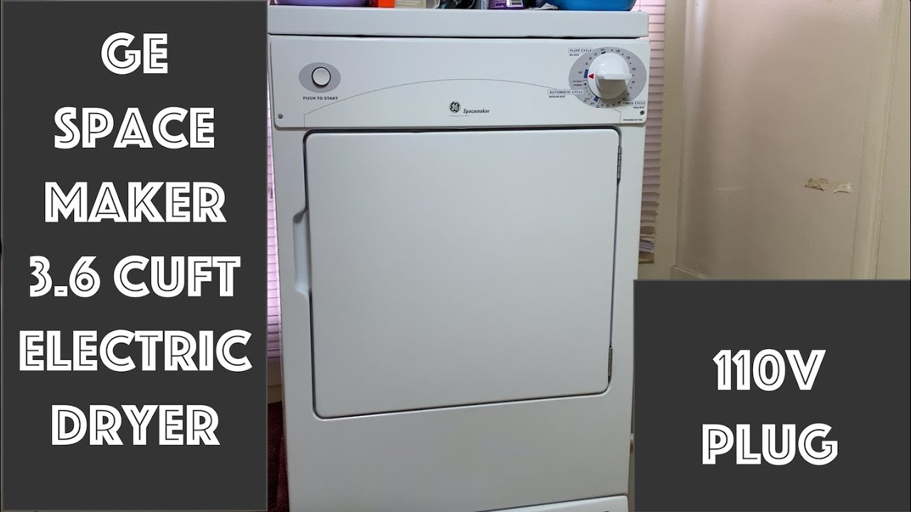 110v Ge Spacemaker Electric Dryer Overview Livin Life Appliance S Youtube