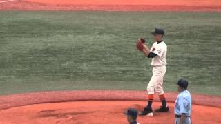 上一色中学校 田口仁平投手 始球式