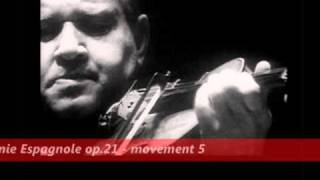 david oistrakh plays lalo symphonie espagnole op 21 movement 5 1955 jean matinon