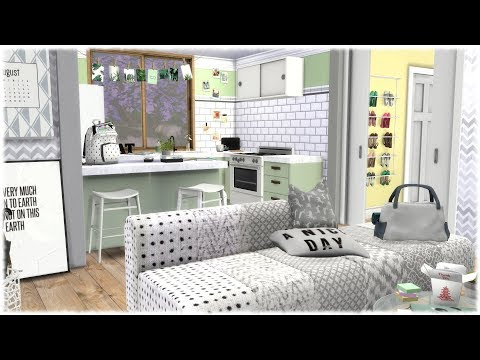 The Sims 4: Speed Build // COLLEGE APARTMENT + CC LINKS thumbnail