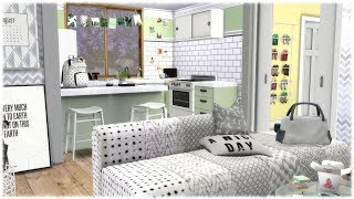 The Sims 4: Speed Build // COLLEGE APARTMENT + CC LINKS