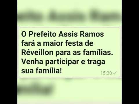 Prefeito Assis Ramos fará o maior Réveillon de todos os tempos com o cantor da música, SENTA PORRA VAI CARALHO!!!