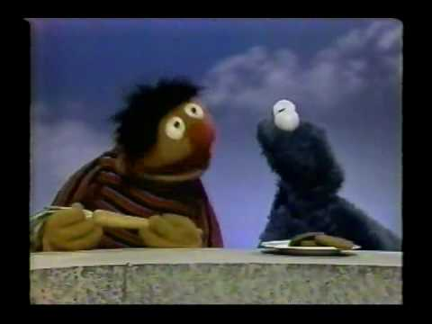 Sesame Street - Ernie gets Cookie Monster to eat a carrot