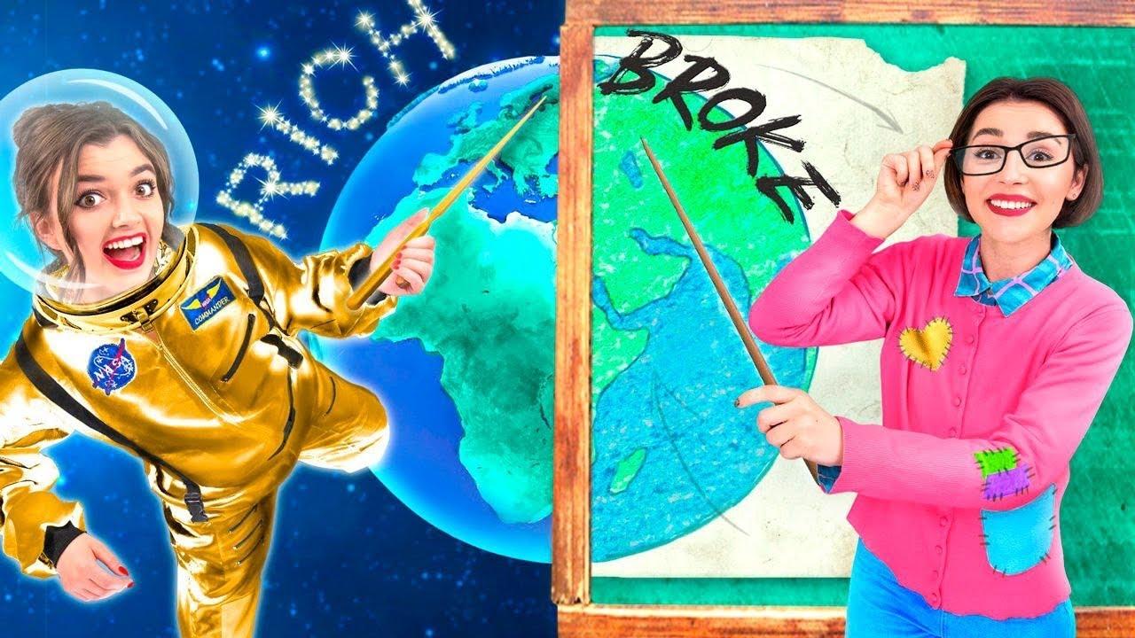 Rich Teacher vs Broke Teacher / How to Become Popular In College!