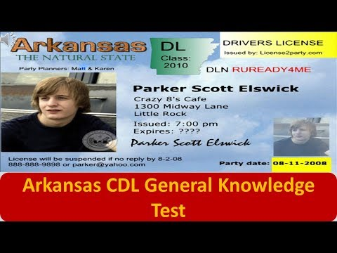 Arkansas CDL General Knowledge Test