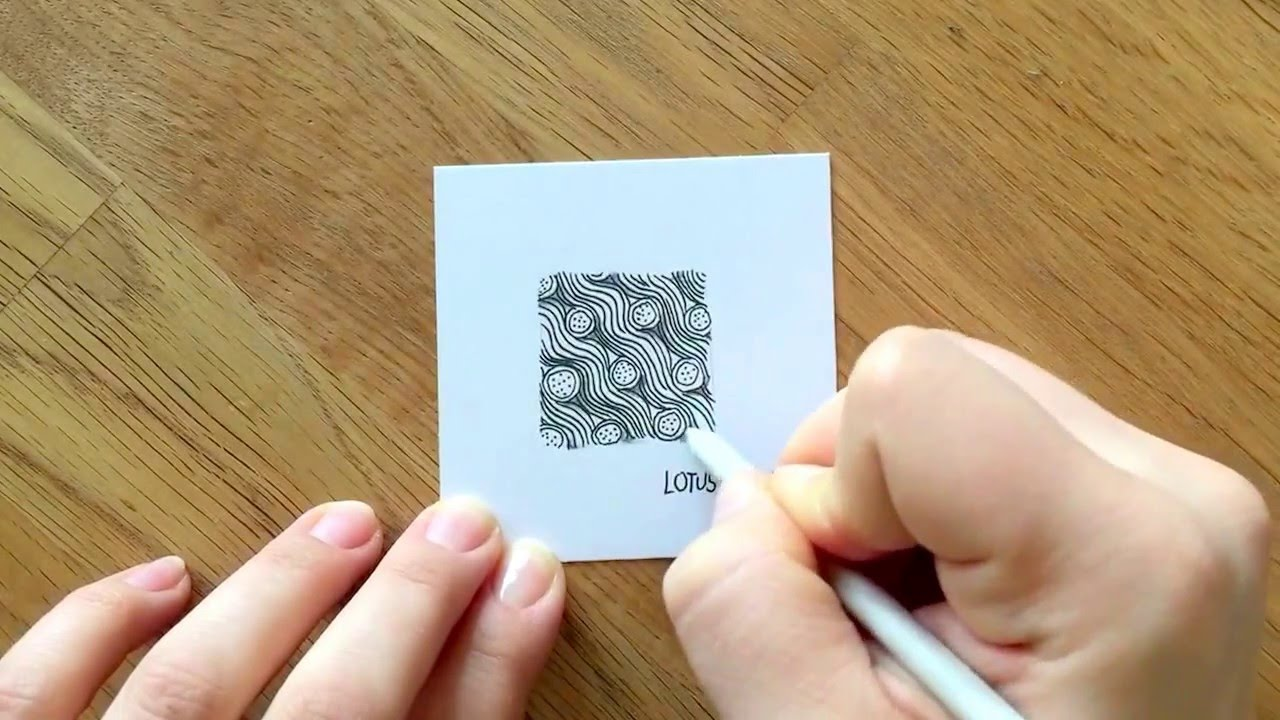 zentangle muster lotus pad waves - Zentangle Muster