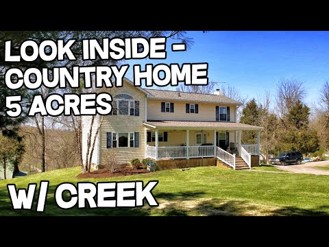 Beautiful country homes for sale 5 acres creek for Multigenerational homes for sale