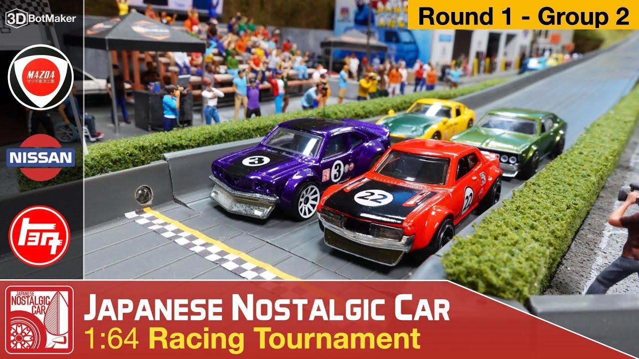 Japanese Nostalgic Car Tournament (Round 1 Group 2) JDM Diecast Racing