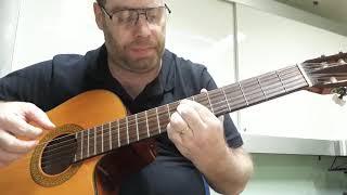 """Violão, aula 25.b - """"Um Só Rebanho"""", HCC, José I. Freire, Lelia N. Morris."""