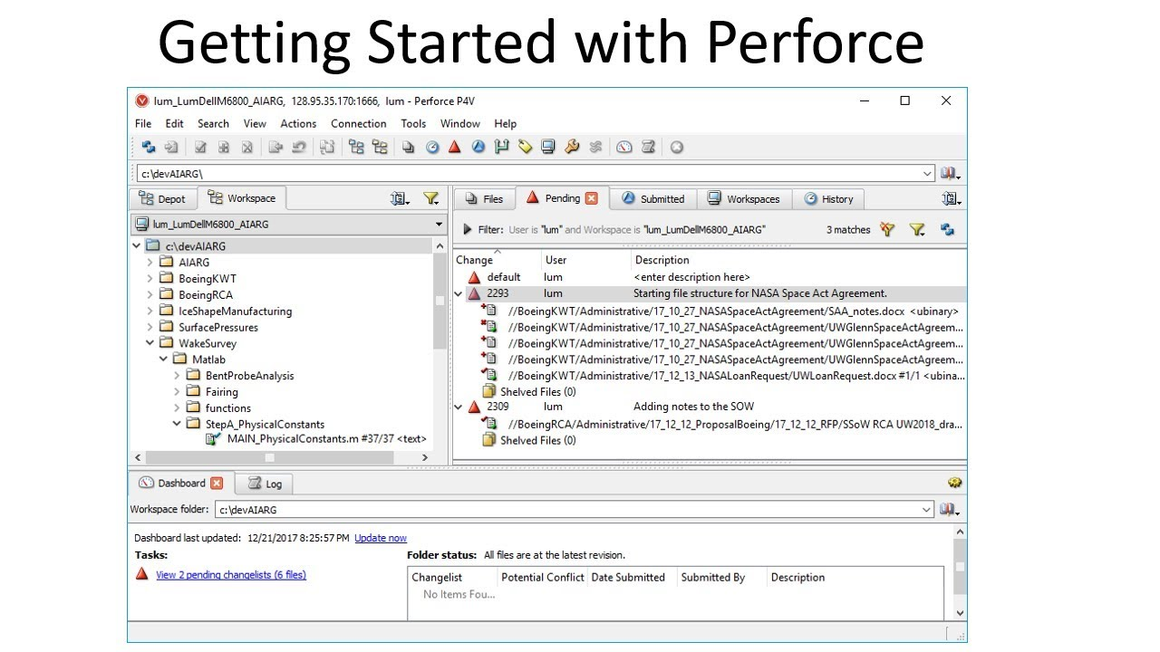 Getting Started with Perforce and P4V