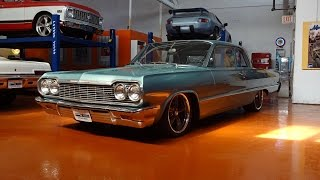 1964 Chevrolet Chevy Biscayne Custom in Turquoise & Engine Sound on My Car Story with Lou Costabile
