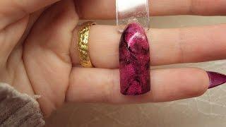 Nail art tutorial effetto marmo in gel uv