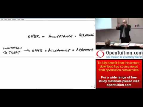 ACCA F4 Chapter 4 Contract Law part 1