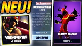 NEUER CLOAKED SHADOW SKIN & BODENOFFENSIVE MODUS!🔥   NEUES UPDATE!   Fortnite Battle Royale