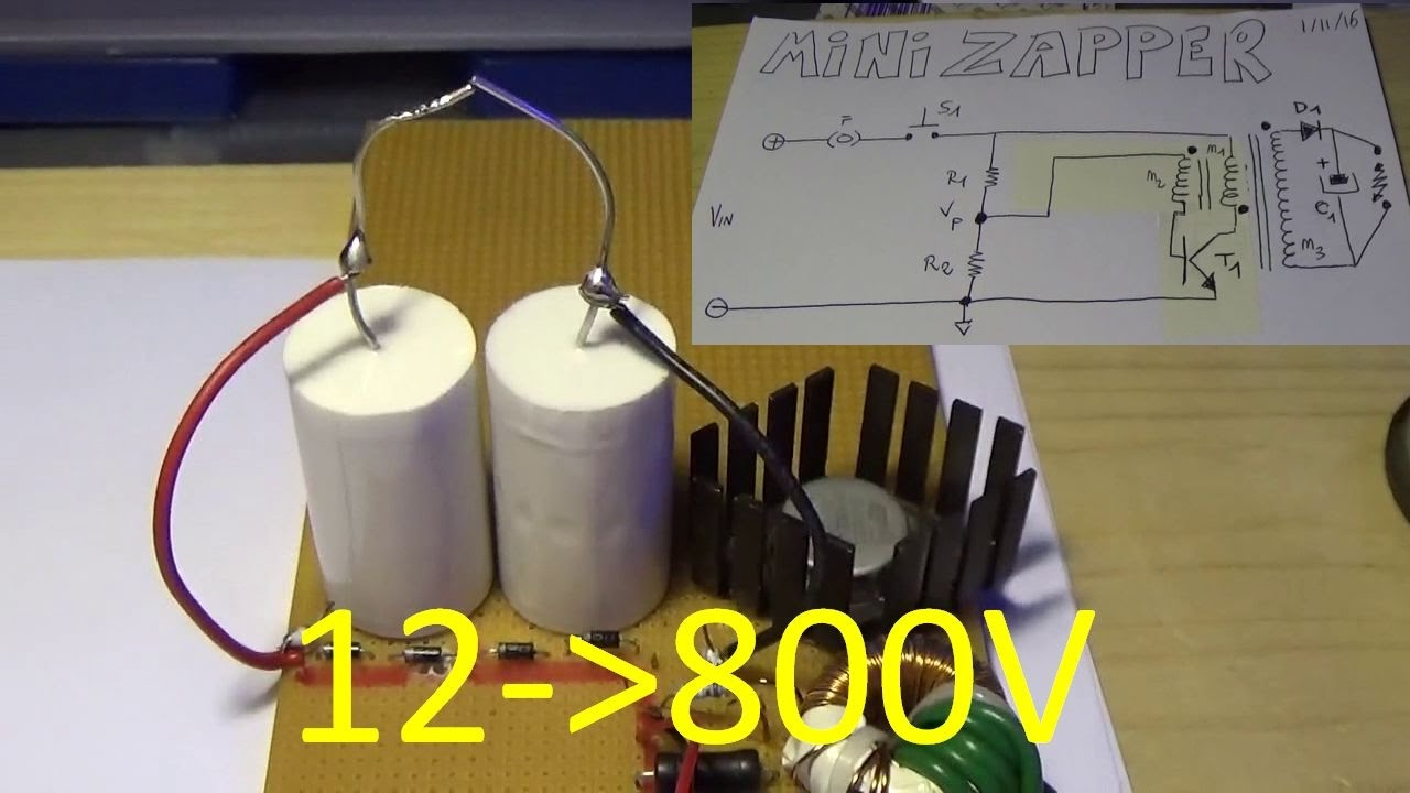 Schema Elettrico Elevatore Di Tensione : Pieraisa #224: minizapper pt.1 generazione 800v dc partendo da 12v