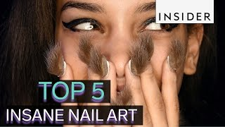 Top 5 insane nail art trends