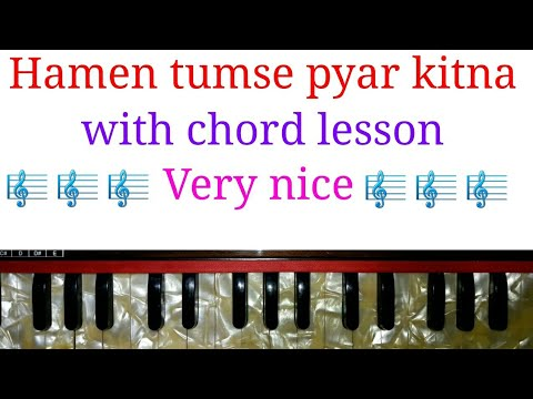 how to play/humein tumse pyar kitna with chord/harmonium/keyboard