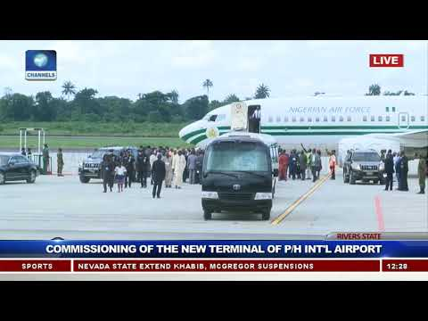 Buhari Commissions New Terminal Of Port-Harcourt Int'l Airport Pt.1