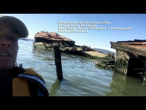 Dilapidated docks sunken ships Pt San Pablo Kayaking  By Stacy Poulos PostcardTravelers