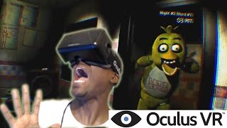 MY 1st Oculus Rift DK2 Gameplay | One Night at Freddy