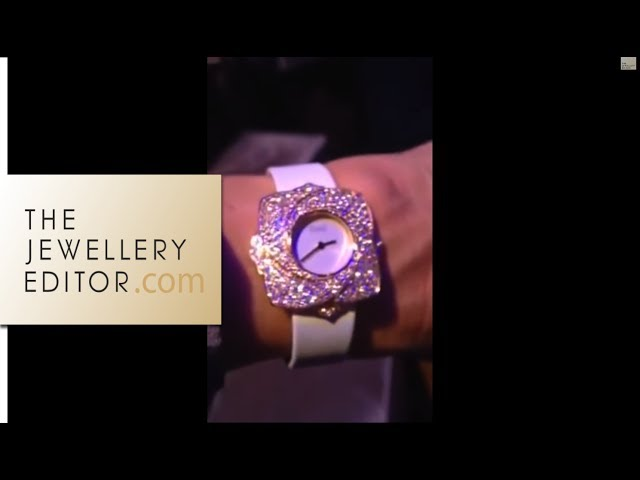 Video: Maria trying on Piaget Blooming Rose watch, white