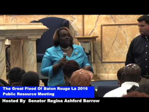 The Great flood of Baton Rouge 2016 Resource Meeting  9/25/2016