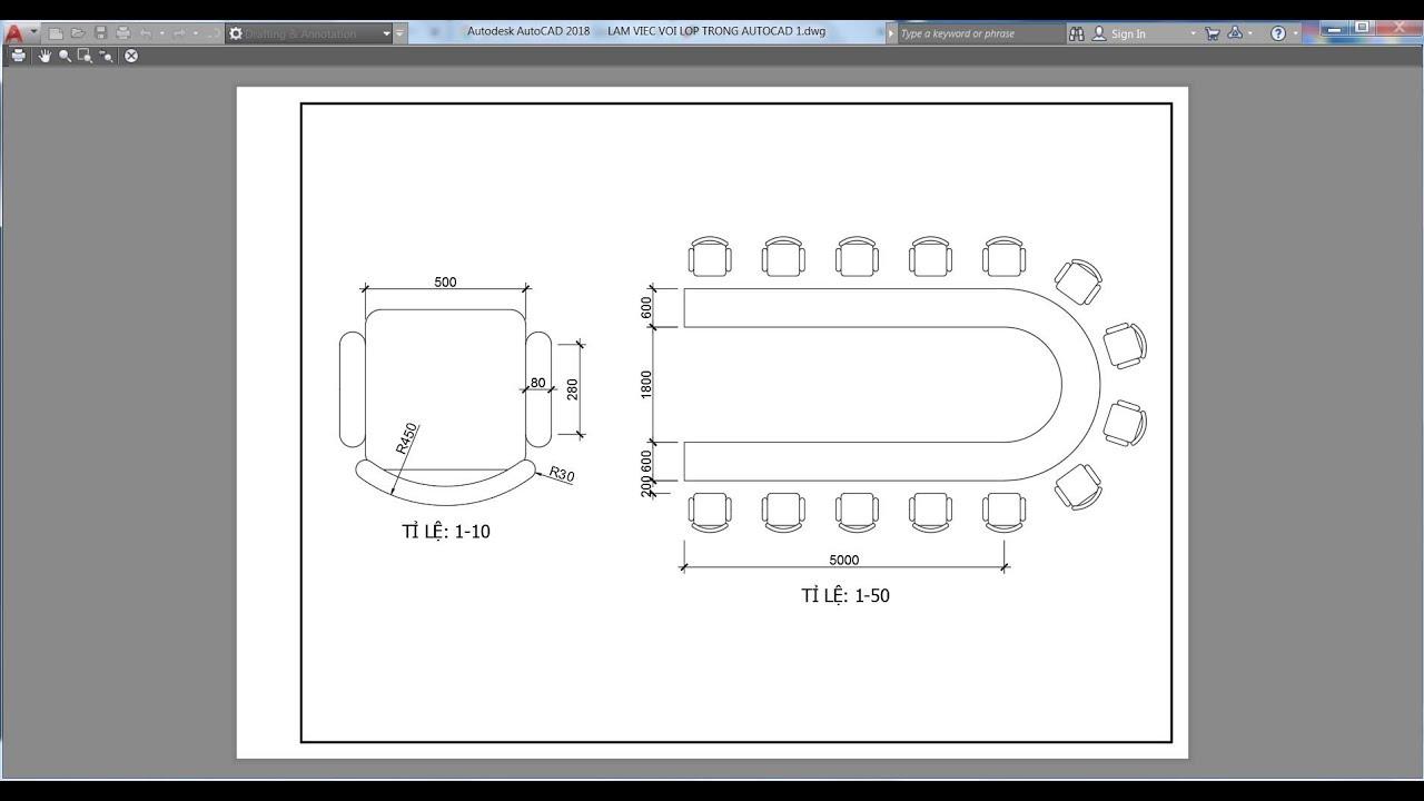 Hướng dẫn trình bày bản vẽ nhiều tỉ lệ trong AutoCAD Model