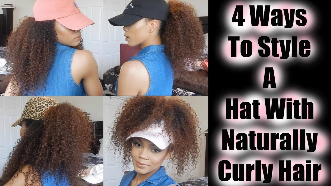 different ways to style curly hair 4 ways to style a hat with naturally curly hair kenzey 5342