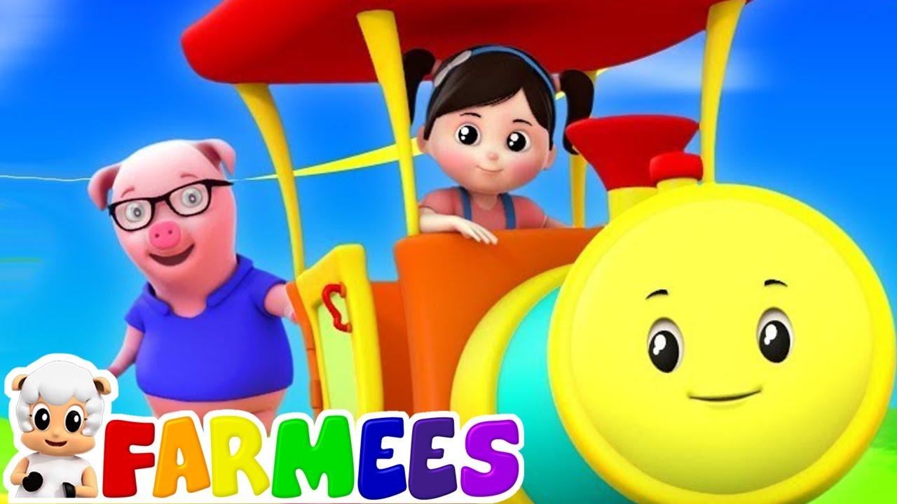 Rig A Jig Jig | Musica para bebes | Video infantil | Farmees Português | Desenhos animado