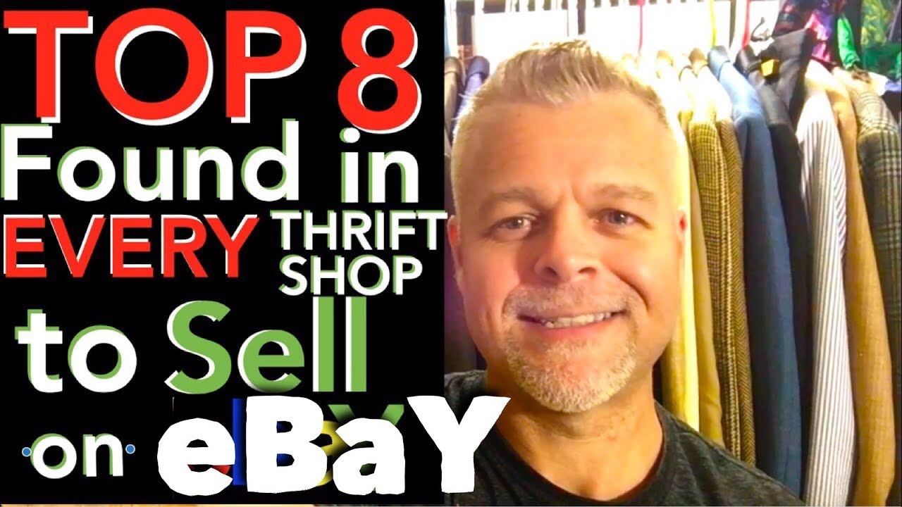 What to Sell on eBay from Thrift Stores & Garage Sales. 8 TOP SELLING ITEMS to Re-Sell for Profi