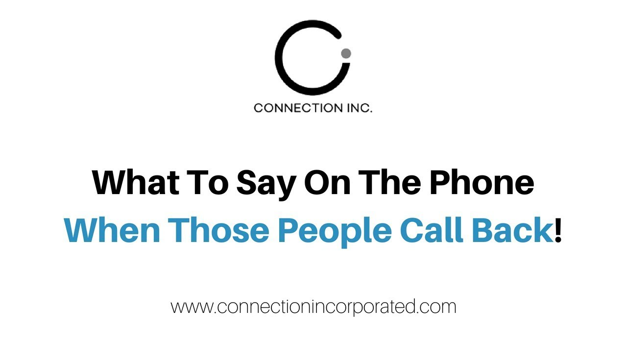 What to say on the phone