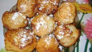 Яблочно творожные пончики за 9 с половиной минут