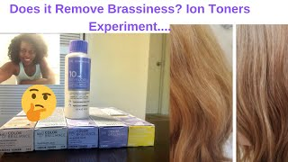 Does it Remove Brass? Ion Brilliance Toners Experiment